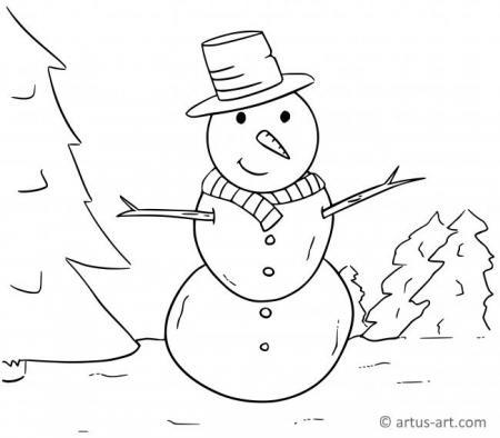 Schneekugel Ausmalbild » Gratis Ausdrucken & Ausmalen