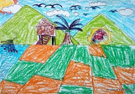 lukisan pemandangan oleh kanakkanak  ARTVENTURE KIDS