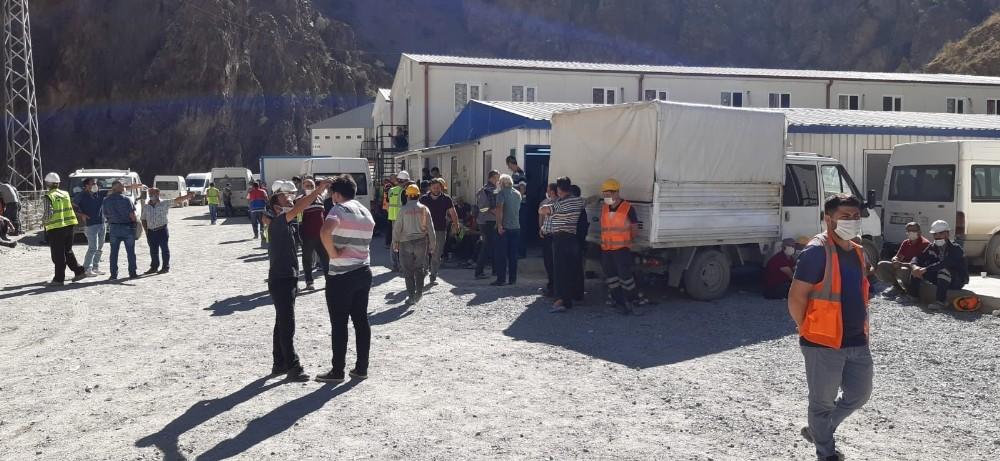 Yusufeli Barajı inşaatında Covid-19 vakaları artınca yeni tedbirler alındı