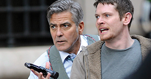 "George Clooney and his grandson... No, wait, that's actor Jack O'Connell in the forgettable ""Money Monster,"" now showing at a theater near you."