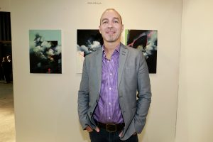 Joerg Dressler w Alden Gallery Alden Gallery @ Echo Art Fair photo by Cheryl Gorski 1