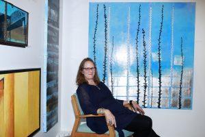 Karen JS Tashjian @ Echo Art Fair photo by Cheryl Gorski 1