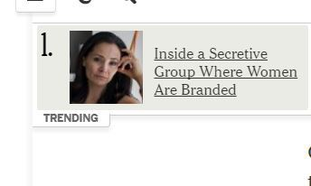 No. 1 trending story in the New York Times