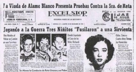 Mexico City newspapers reported in December of 1951 that the young girl had  been executed by one of these three young elite deviants.