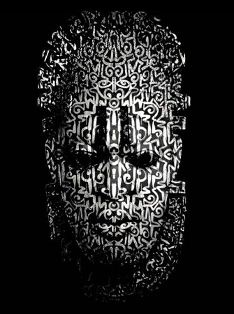 Digital rendering of his iconography on a photo of the Queen Idia mask by Victor Ehikhamenor. Courtesy of the artist/New York Times