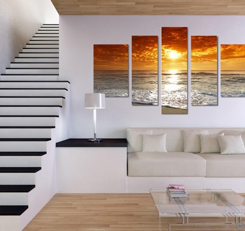 Tableau design Sunset Sea