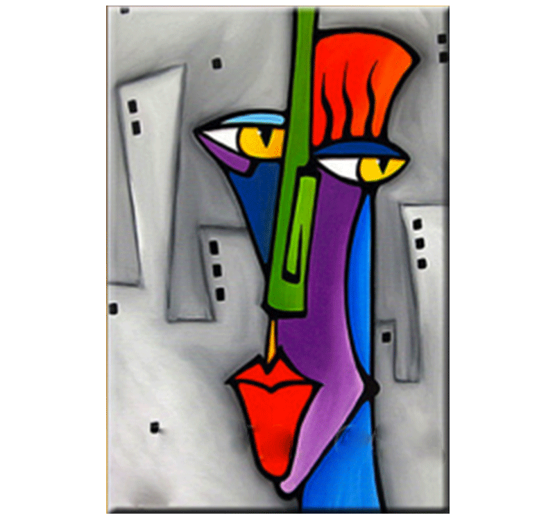 Pop Art Face Abstract Painting Artwall And Co