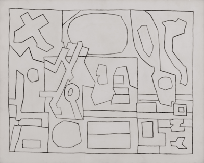 Lines Thicken: Stuart Davis in Black and White at Kasmin