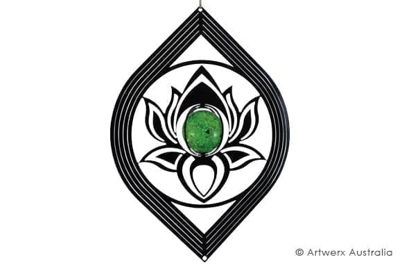 Black Lotus Wind Spinner