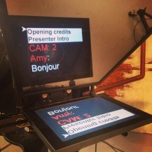 Autocue ready for the second show