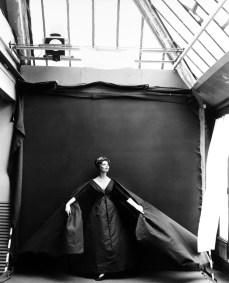 Richard Avedon Suzy Parker Evening Dress by Dior, Paris Studio August 1956 ©Richard Avedon Foundation