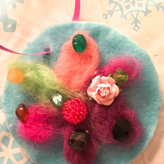Winter Holiday Felted Ornaments