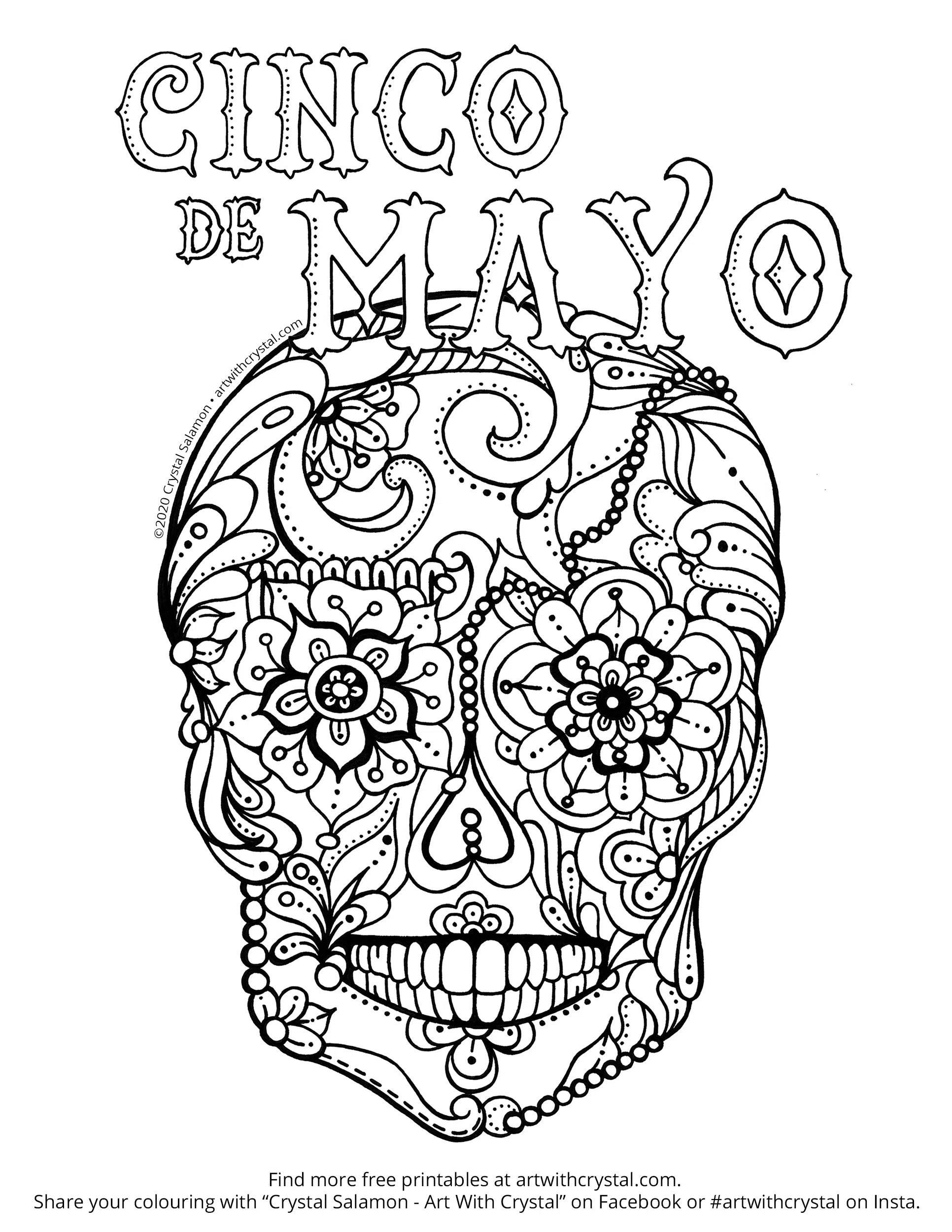 Cinco De Mayo Free Printable Colouring Page