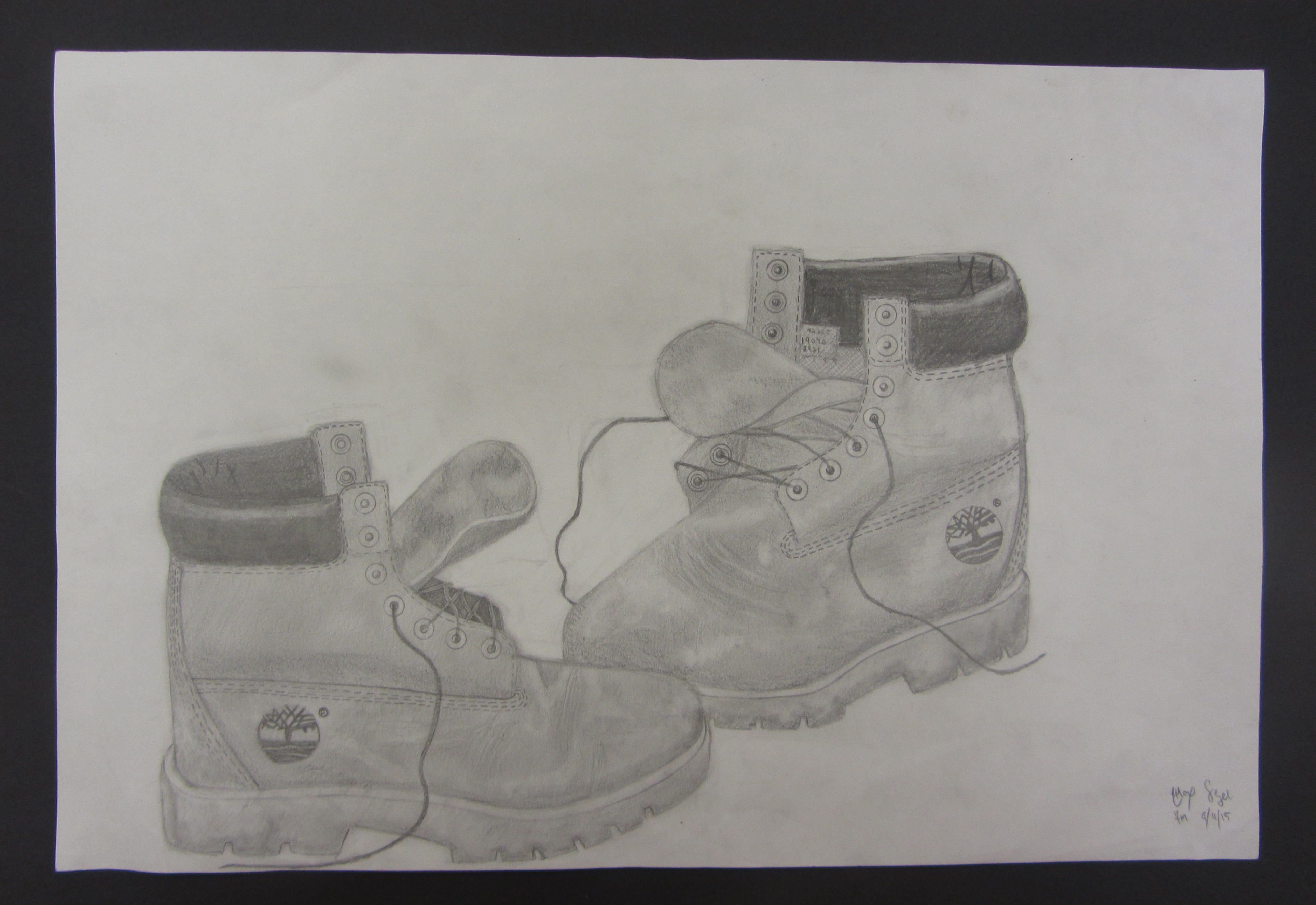 7th Grade Observational Shoe Drawings