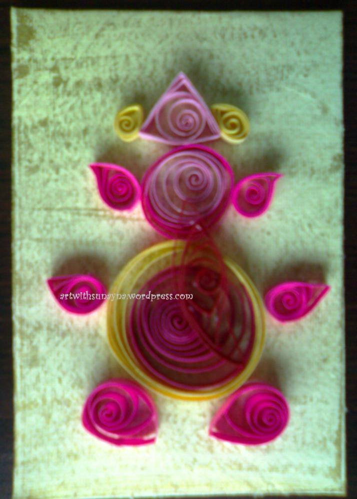 Paper quilled greeting card - Ganpati - 1 (3/3)