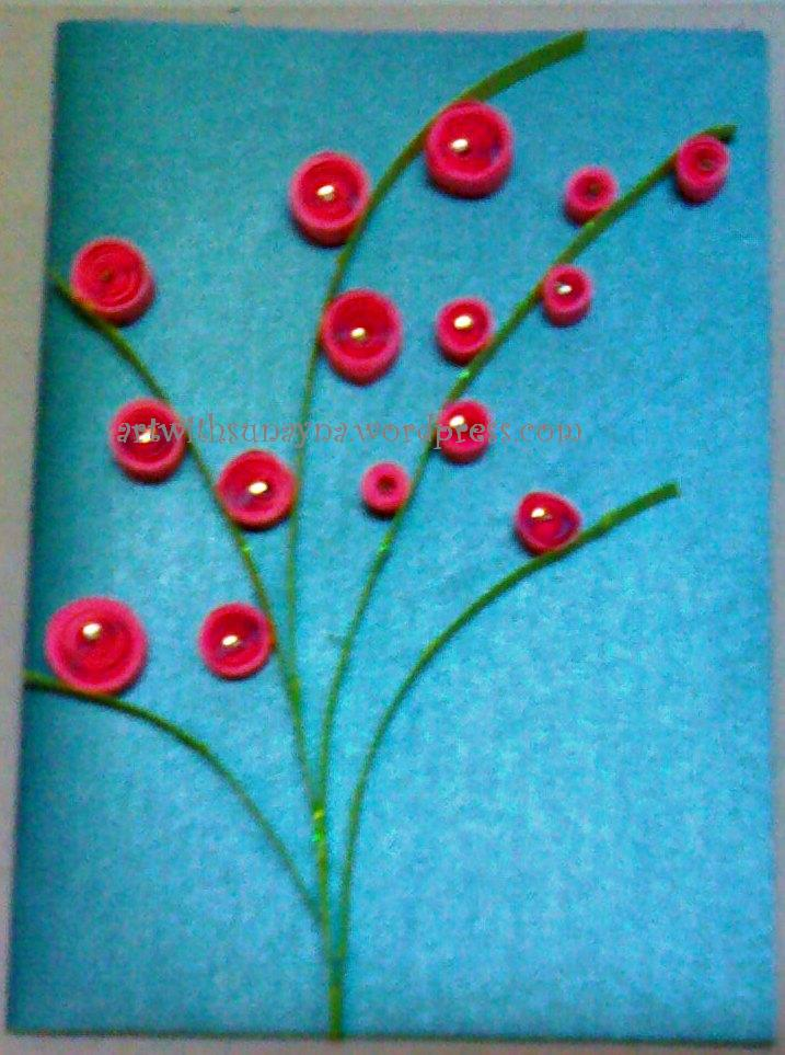 Paper Quilled Greeting Cards Flower Greetings 1 Art