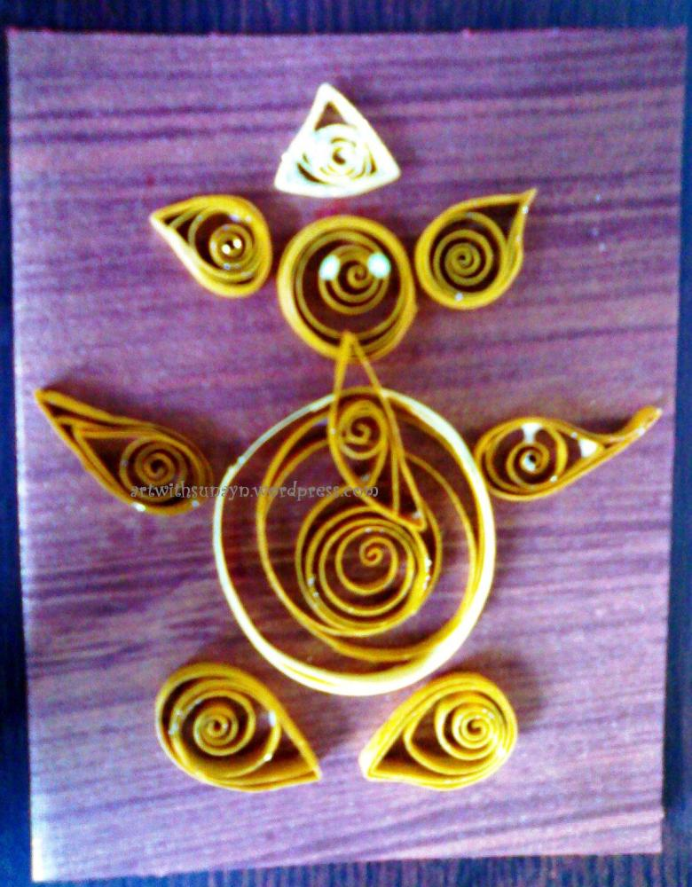 Paper quilled greeting card - Ganpati - 1 (1/3)