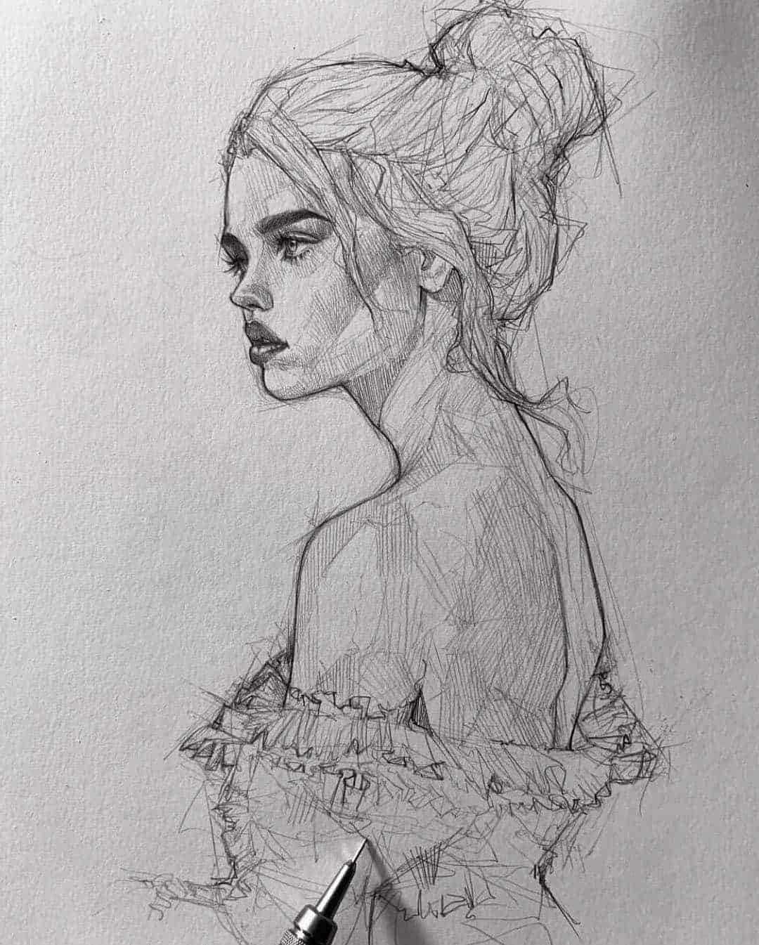 pencil sketch artist efraín