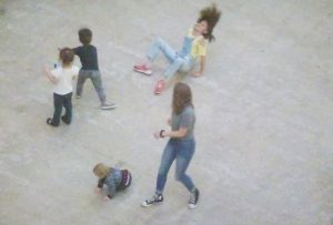 Children playing in Turbine Hall