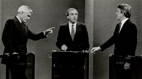 John Turner, Ed Broadbent, Brian Mulroney debate free trade (NAFTA) in 1988