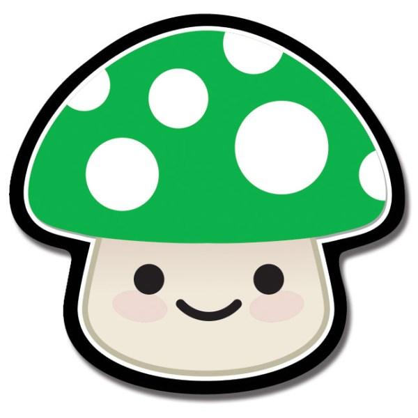 Green Mushroom Magnet