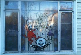 Lock Stock and Barrel Window Mural By Living Dead Girl Nicole