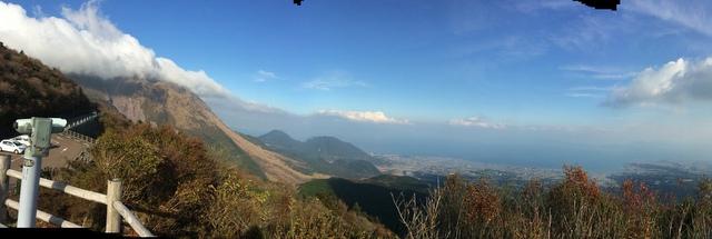 仁田峠のパノラマ