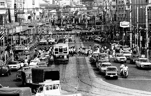 長崎光景1975年の浜の町