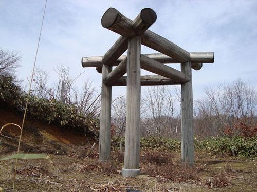 岐阜県大和町の三柱鳥居