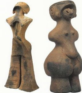 女性と思われる土偶
