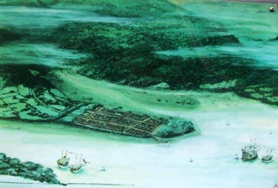 埋め立て前の長崎