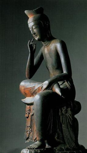 広隆寺の弥勒菩薩半跏思惟像