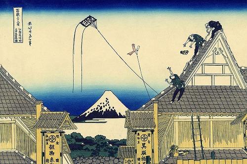 富嶽三十六景に描かれた江戸の凧