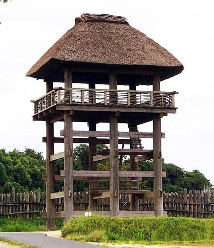 吉野ヶ里公園で再現された櫓