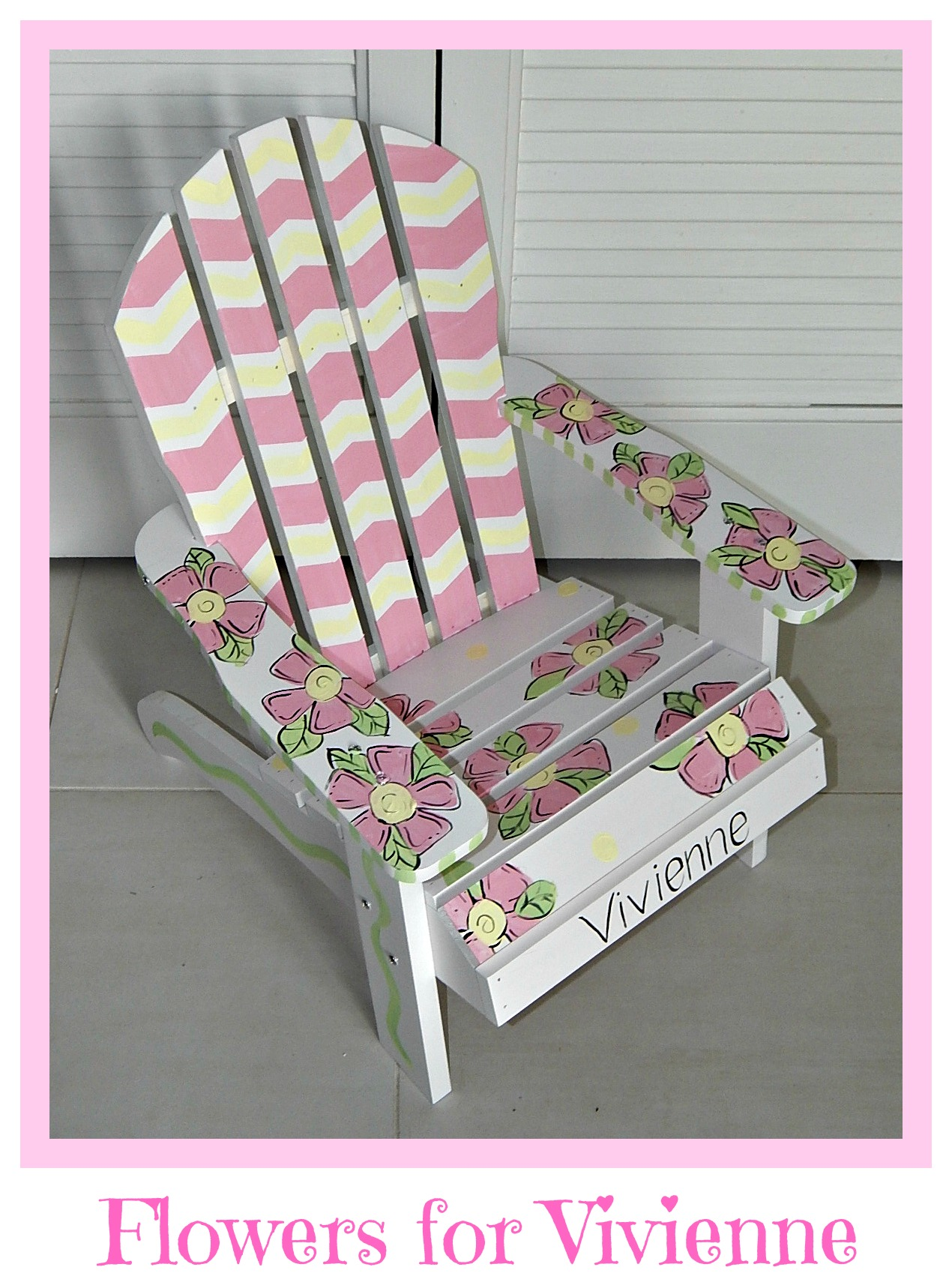 Monogrammed Toddler Chair Hand Painted Children S Adirondack Chair