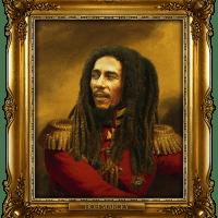 Retratos antigos com rostos de famosos