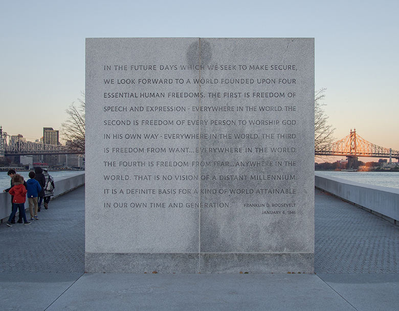FDR Memorial Roosevelt Island NYC