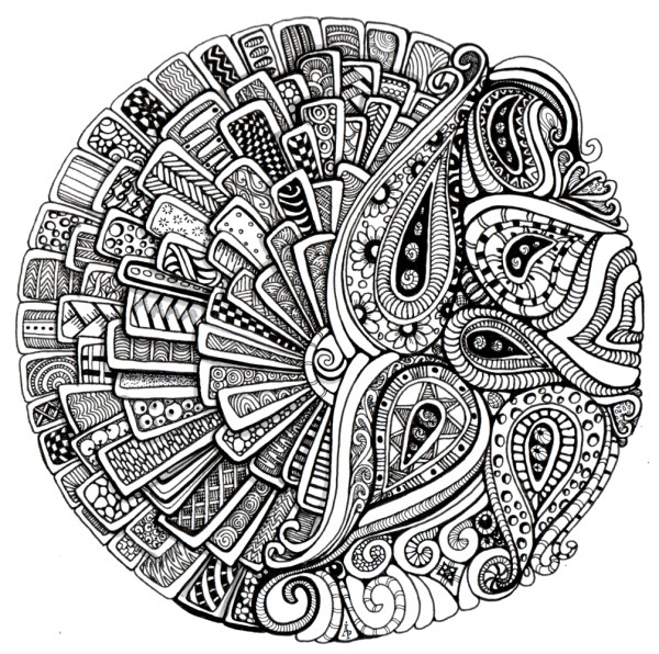 Art Therapy Mandalas Coloring Pages