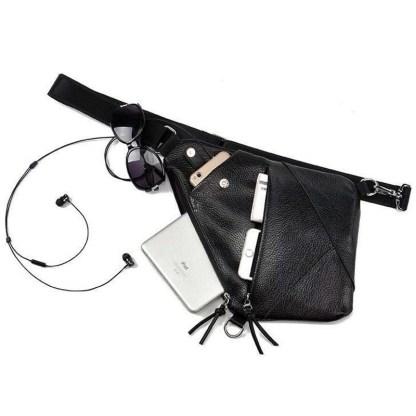 Сумка водителя-кобура-мессенджер ArtX Style эко кожа черная #050