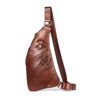 Кожаная сумка мужская ArtX Style Moon коричневая #068-2