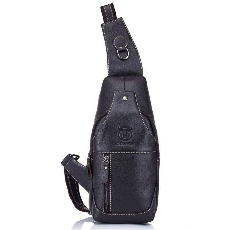 1eb096c15105 Мужской рюкзак-сумка-кобура Cross Body кожаная ArtX Captain черная #94-1K