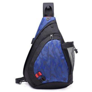 Рюкзак-сумка однолямочный ArtX Cross Body черно-синий #95-3