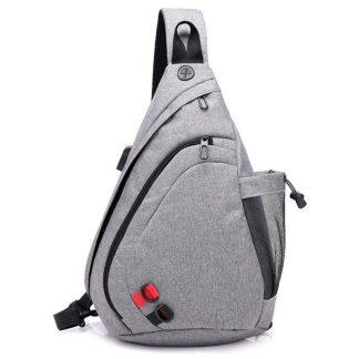 Рюкзак-сумка однолямочный ArtX Cross Body серый #95-4