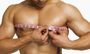 Измерение обхвата груди у мужчин