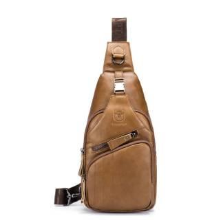 Рюкзак-сумка-кобура ArtX Cross Body шкіряна жовта #090-3SH