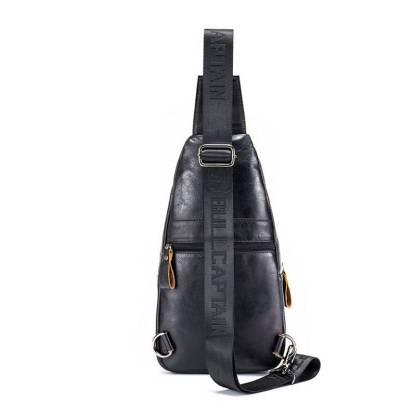 Рюкзак-сумка-кобура ArtX Cross Body шкіряна чорна #090-1SH