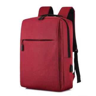 Городской рюкзак для ноутбука ArtX Minimalist-1  USB 17 л бордовый #218-4