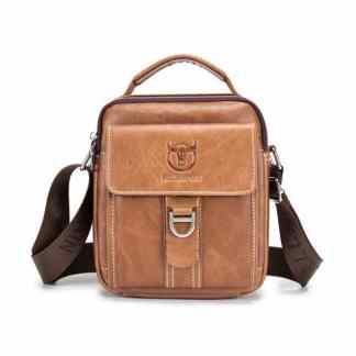 Мужская кожаная сумка ArtX Captain светло-коричневая #075-3