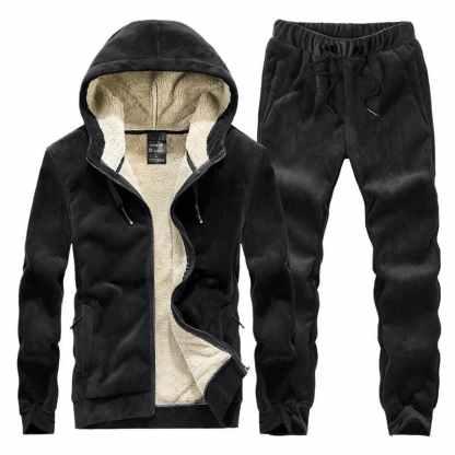 Велюровый спортивный костюм на меху ArtX #316-1 черный