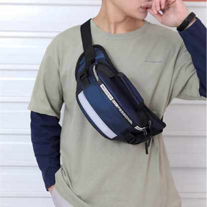 Мужская сумка на пояс бананка ArtX #098-3 синяя